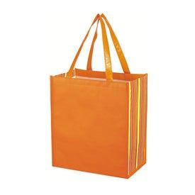 Shiny Laminated Non Woven Tropic Shopper Tote Bag for Customization