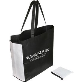 Shop N' Zip Foldable Tote Bag for Advertising