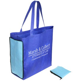 Advertising Shop N' Zip Foldable Tote Bag