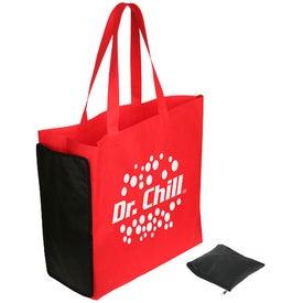 Imprinted Shop N' Zip Foldable Tote Bag
