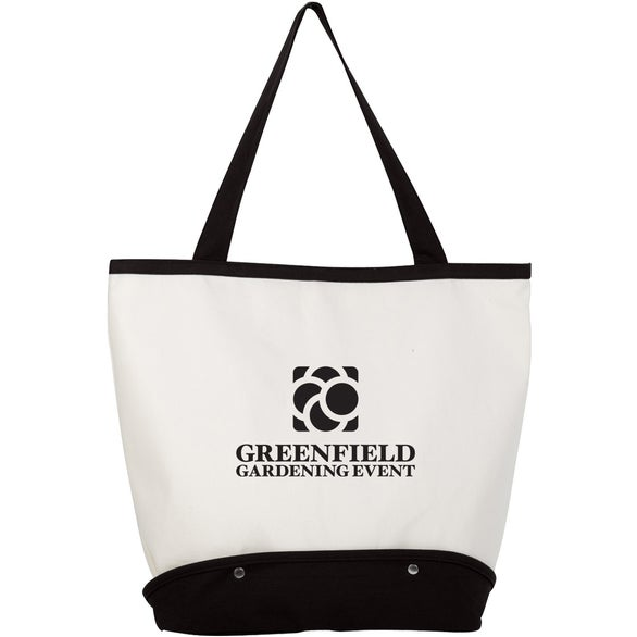 Natural / Black Sifter Beach Tote Bag