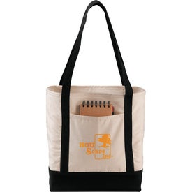 Branded Signature Cotton Boat Tote