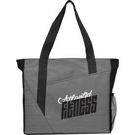 Slash Zippered Meeting Tote Bag