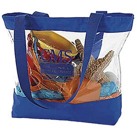 Small Clear Tote with Color Trim for Your Church