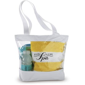 Small Clear Tote with Color Trim with Your Slogan