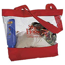 Small Clear Tote with Color Trim