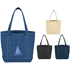 Small Cotton Canvas Yacht Tote for Marketing