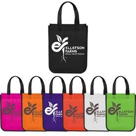 Small Laminated Shopper Tote Bag