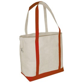 Small Accent Boat Tote Bag - Heavyweight Canvas for Advertising