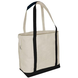 Small Accent Boat Tote Bag - Heavyweight Canvas for Promotion