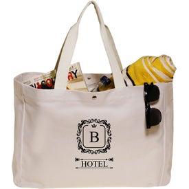 """Snap Button Heavy Cotton Beach Bag (18"""" x 13"""")"""