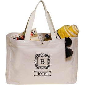 "Snap Button Heavy Cotton Beach Bag (18"" x 13"")"