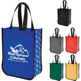 Snow Flurry Laminated Non-Woven Tote Bags