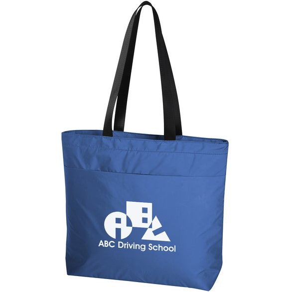 Blue Solstice Reflective Cooler Tote Bag
