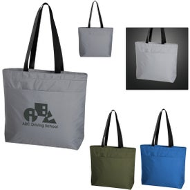 Solstice Reflective Cooler Tote Bags