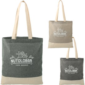 Split Recycled 5oz Cotton Twill Convention Totes
