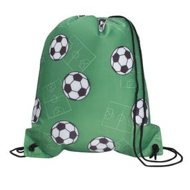 Promotional Sports League Drawcord Tote