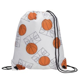 Sports League Drawcord Tote Imprinted with Your Logo
