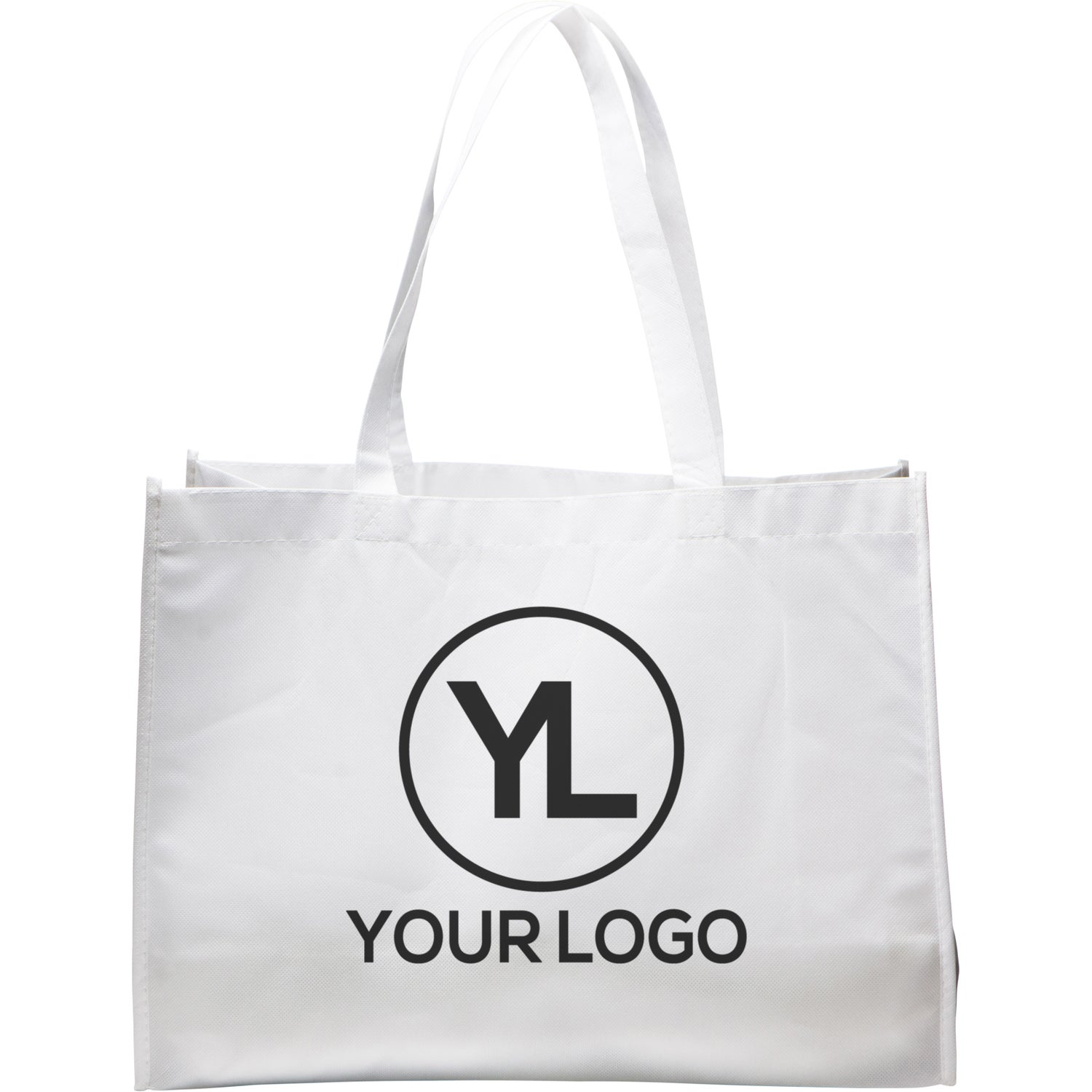 Promotional Medium Eco-Friendly Non Woven Tote Bags with Custom Logo for   0.981 Ea. f9a972a07fd0