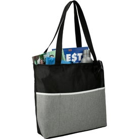 Stone Zippered Meeting Totes