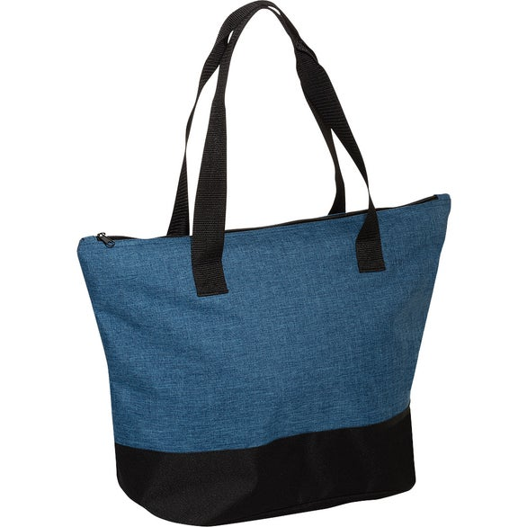 Blue / Black Strand Simple Snow Canvas Tote Bag