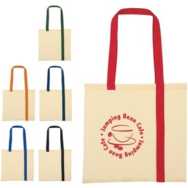 Striped Economy Cotton Canvas Tote Bags