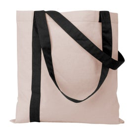 Imprinted Striped Economy Tote Bag