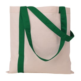 Personalized Striped Economy Tote Bag