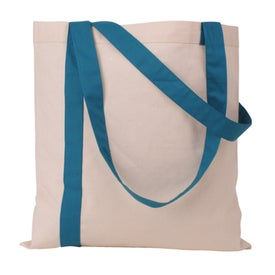 Striped Economy Tote Bag Branded with Your Logo