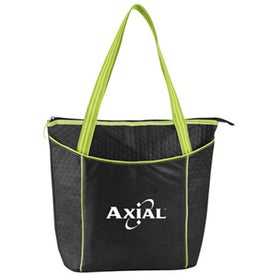 Personalized Striped Nonwoven Cooler Tote