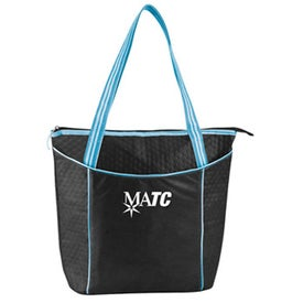 Striped Nonwoven Cooler Tote