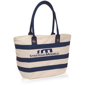 "Striped Sailor Canvas Tote Bag (11"" x 18.25"")"
