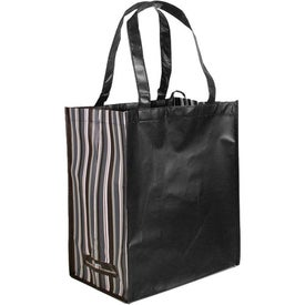 Branded Striped Tote Bag, 80% Post Consumer Material