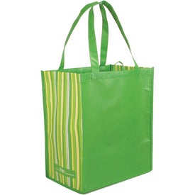 Striped Tote Bag, 80% Post Consumer Material Giveaways