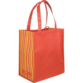 Promotional Striped Tote Bag, 80% Post Consumer Material