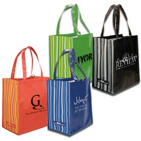 Striped Tote Bag, 80% Post Consumer Material