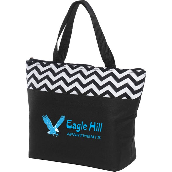 Black Summit Lunch Tote Bag