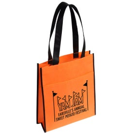 The Peak Tote Bag with Pocket with Your Slogan