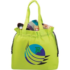 Imprinted The Shell Cinch Tote Bag