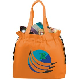 Monogrammed The Shell Cinch Tote Bag