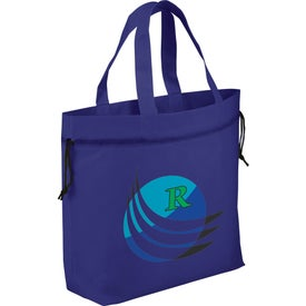 The Shell Cinch Tote Bag Printed with Your Logo