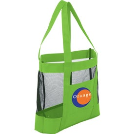 The Surfside Mesh Tote Bag Branded with Your Logo