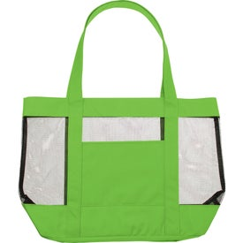 The Surfside Mesh Tote Bag Imprinted with Your Logo