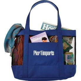 The Surfside Mesh Tote Bag Printed with Your Logo