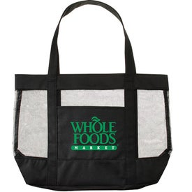 Surfside Mesh Accent Tote Bags