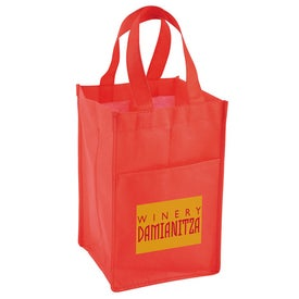 Vino Tote Bag with Your Slogan