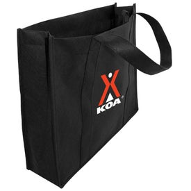 Recycled Non-Woven Convention Tote Branded with Your Logo