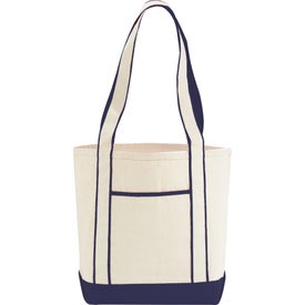 Monogrammed Top Sail Cotton Boat Tote
