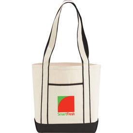 Branded Top Sail Cotton Boat Tote