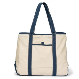 Topsail Recycled Cotton Boat Tote Imprinted with Your Logo